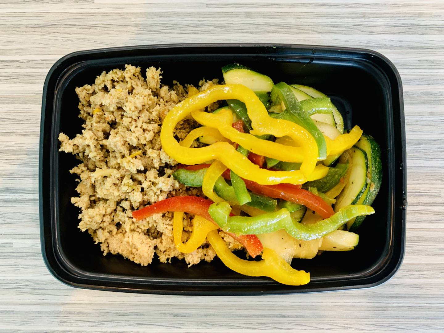 Ground Turkey, Zucchini and Tri Color Peppers