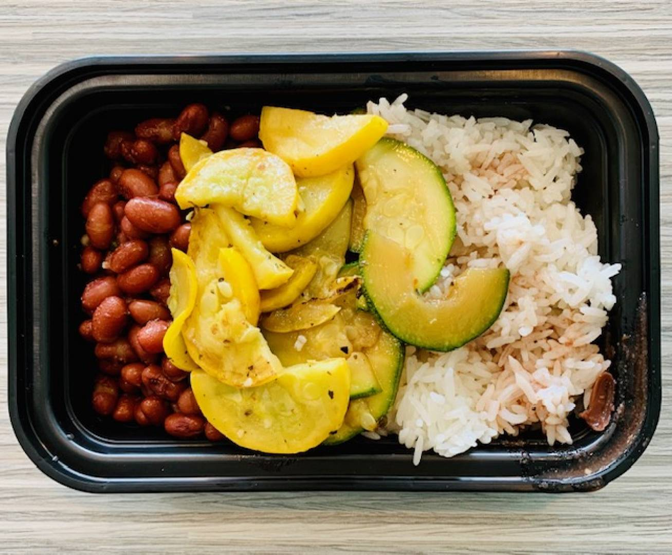 Red Beans, Jasmine Rice, Zucchini and Squash
