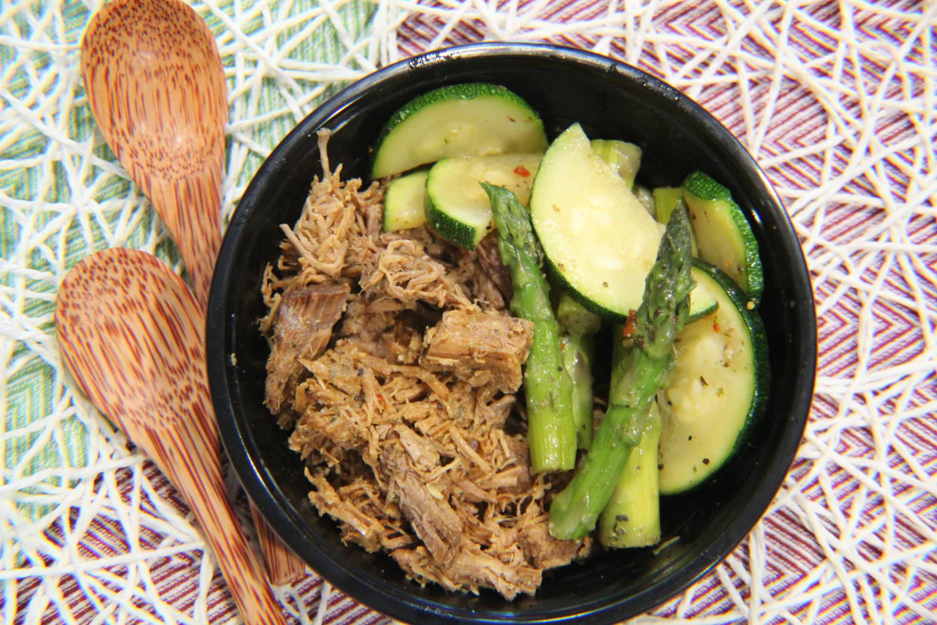 Roast Beef, Asparagus and Zucchini