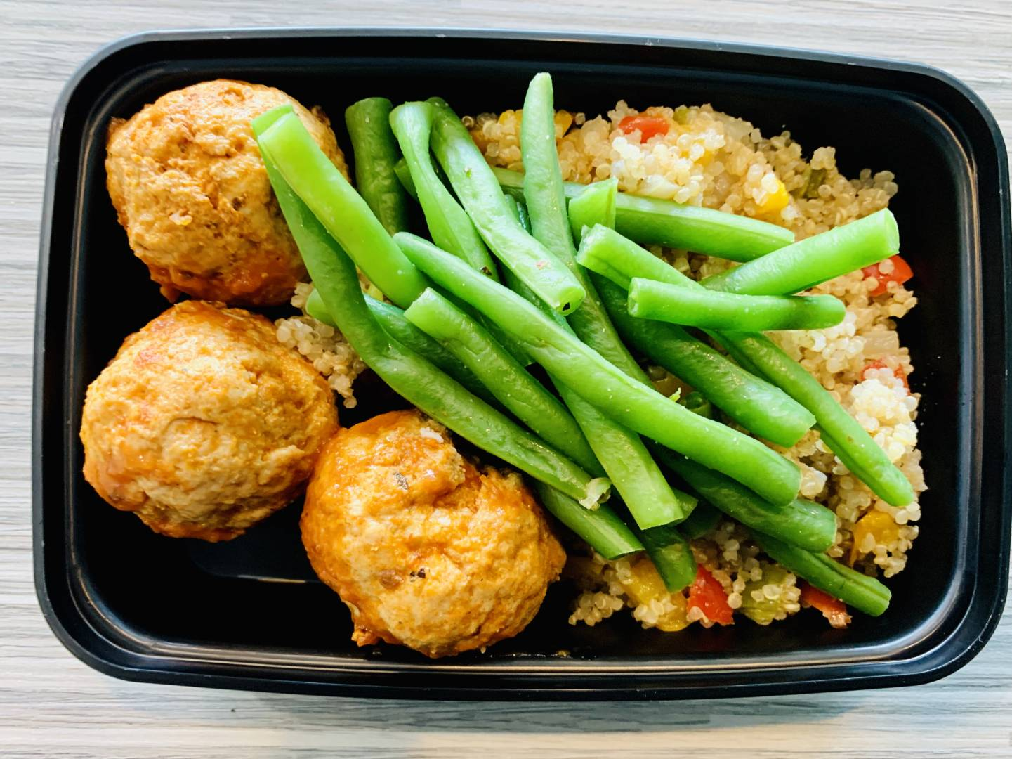 Turkey Meatballs, Quinoa and Green Beans