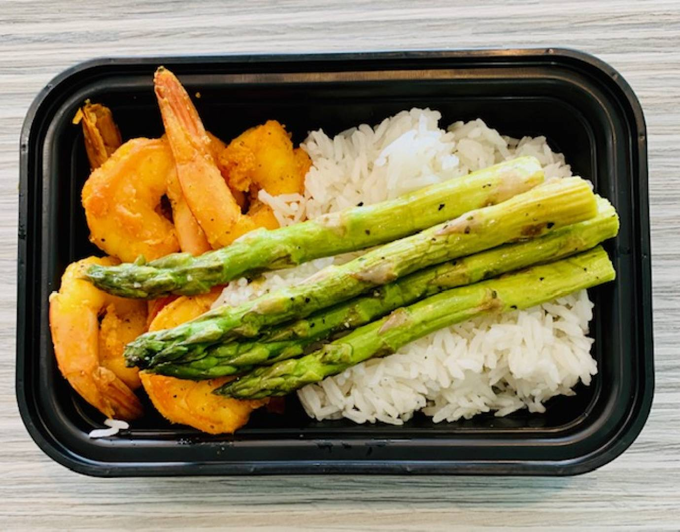 Shrimp, Jasmine Rice and Asparagus