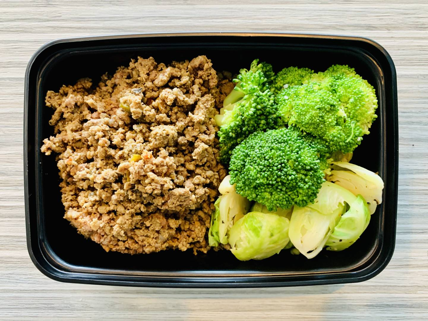 Ground Beef, Broccoli and Brussel Sprouts