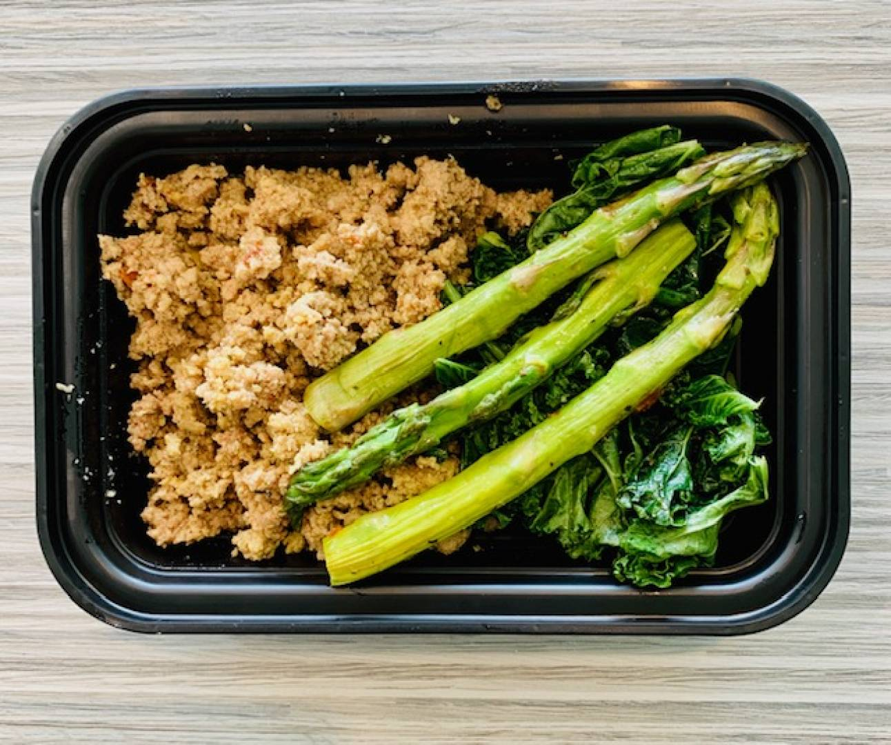 Ground Turkey, Kale and Asparagus