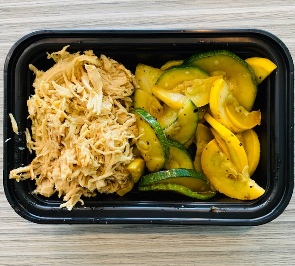 Shredded Chicken, Zucchini and Squash
