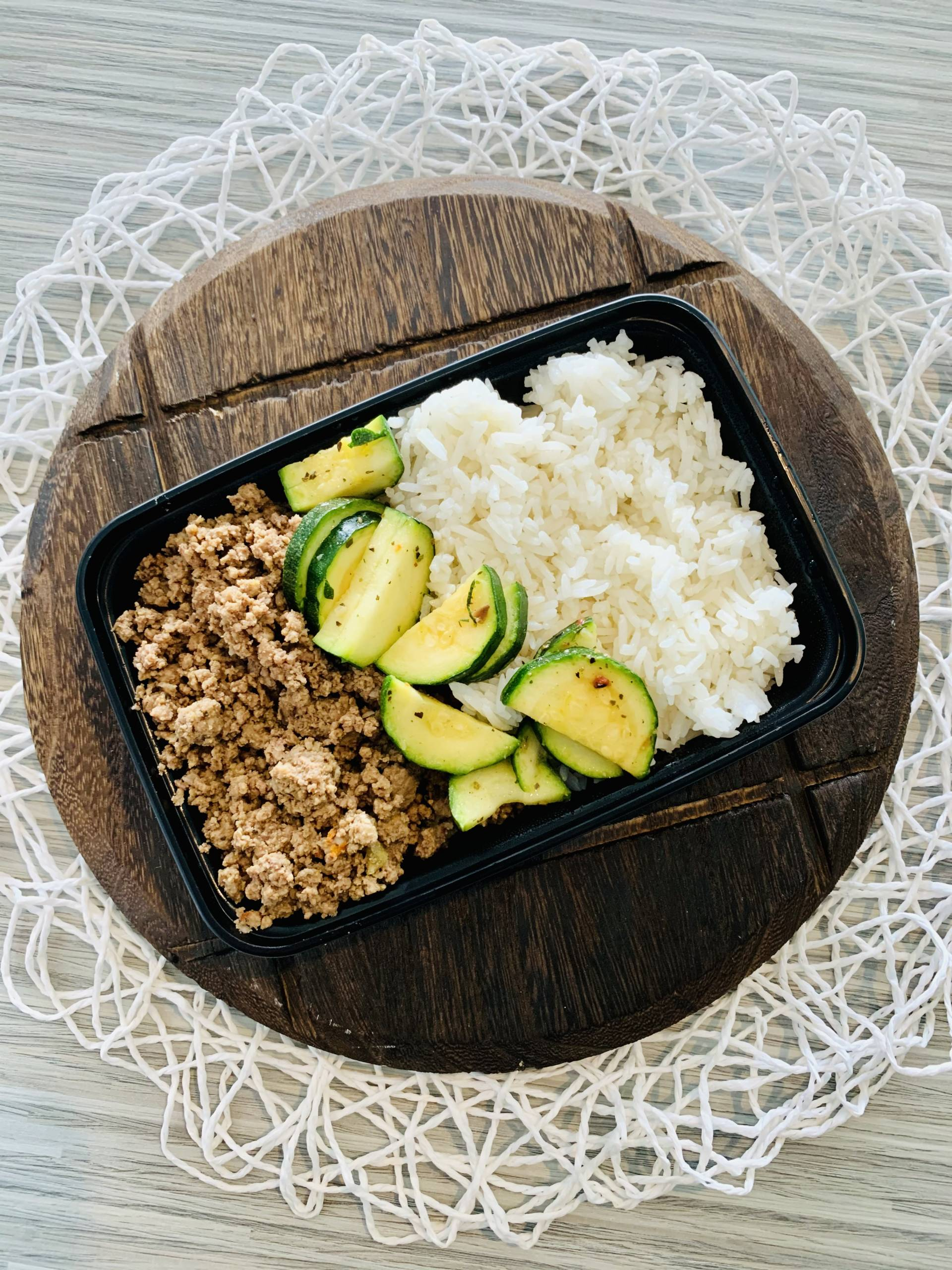 Ground Beef, Jasmine Rice and Zucchini