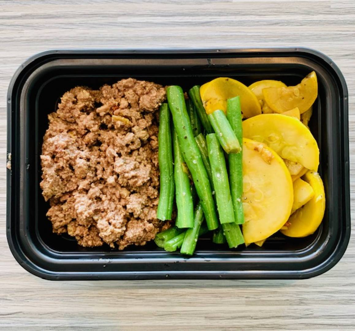 Ground Beef, Green Beans and Squash