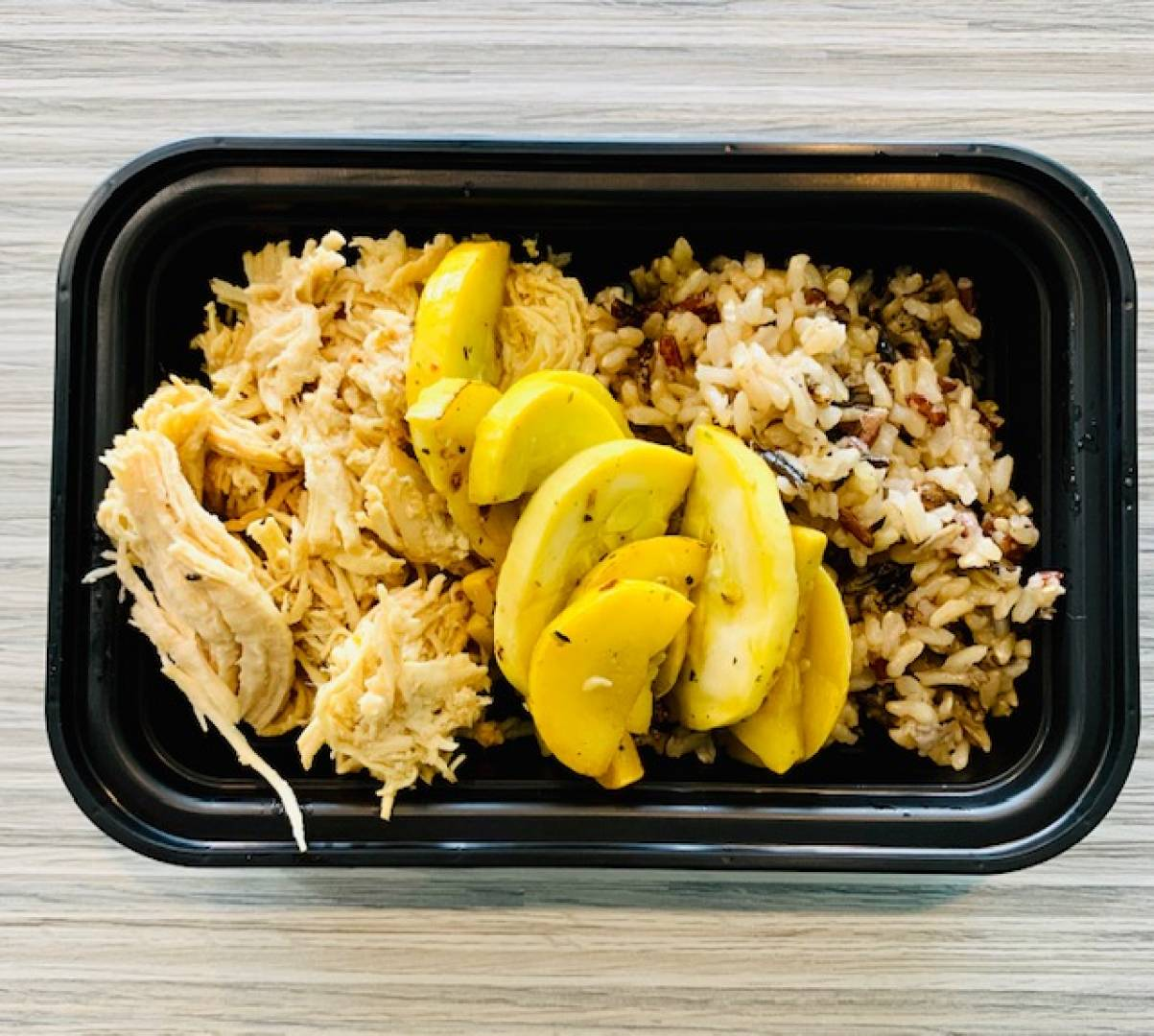 Shredded Chicken, Wild Rice and Squash