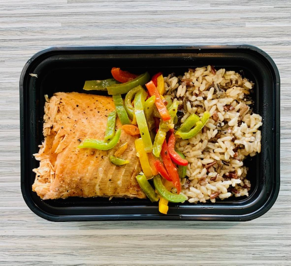 Atlantic Salmon, Wild Rice and Tri-Color Peppers
