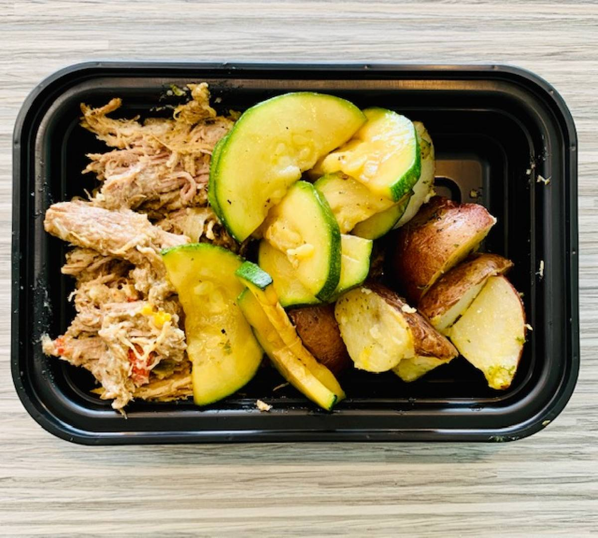 Pulled Pork, Red Potato and Zucchini