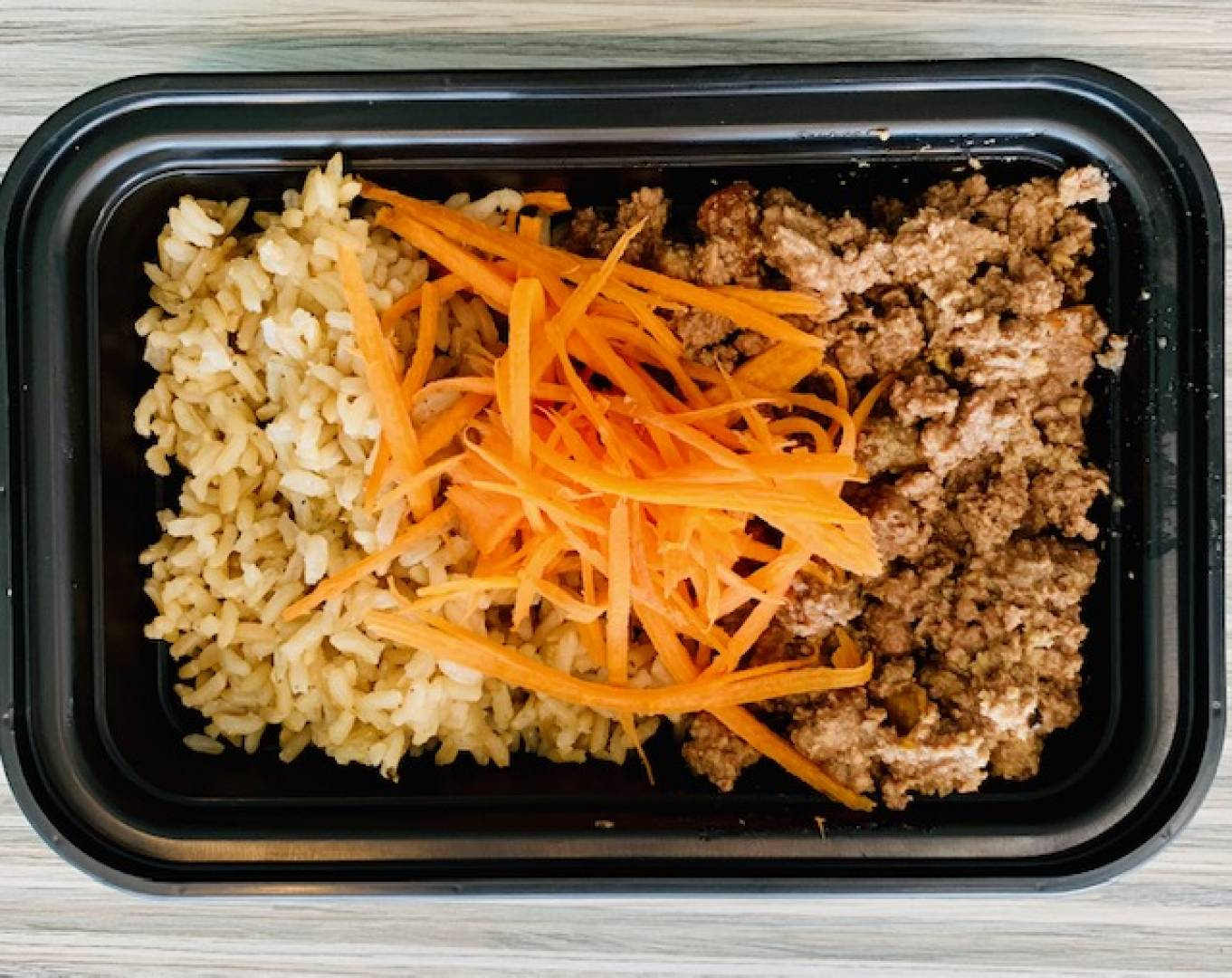 Ground Beef, Brown Rice and Carrots
