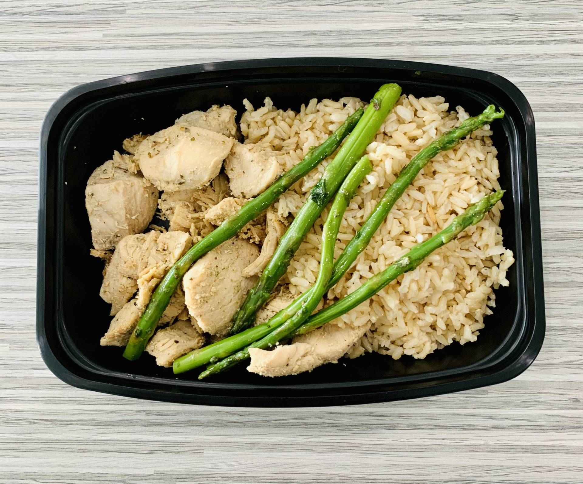Grilled Chicken, Brown Rice and Asparagus