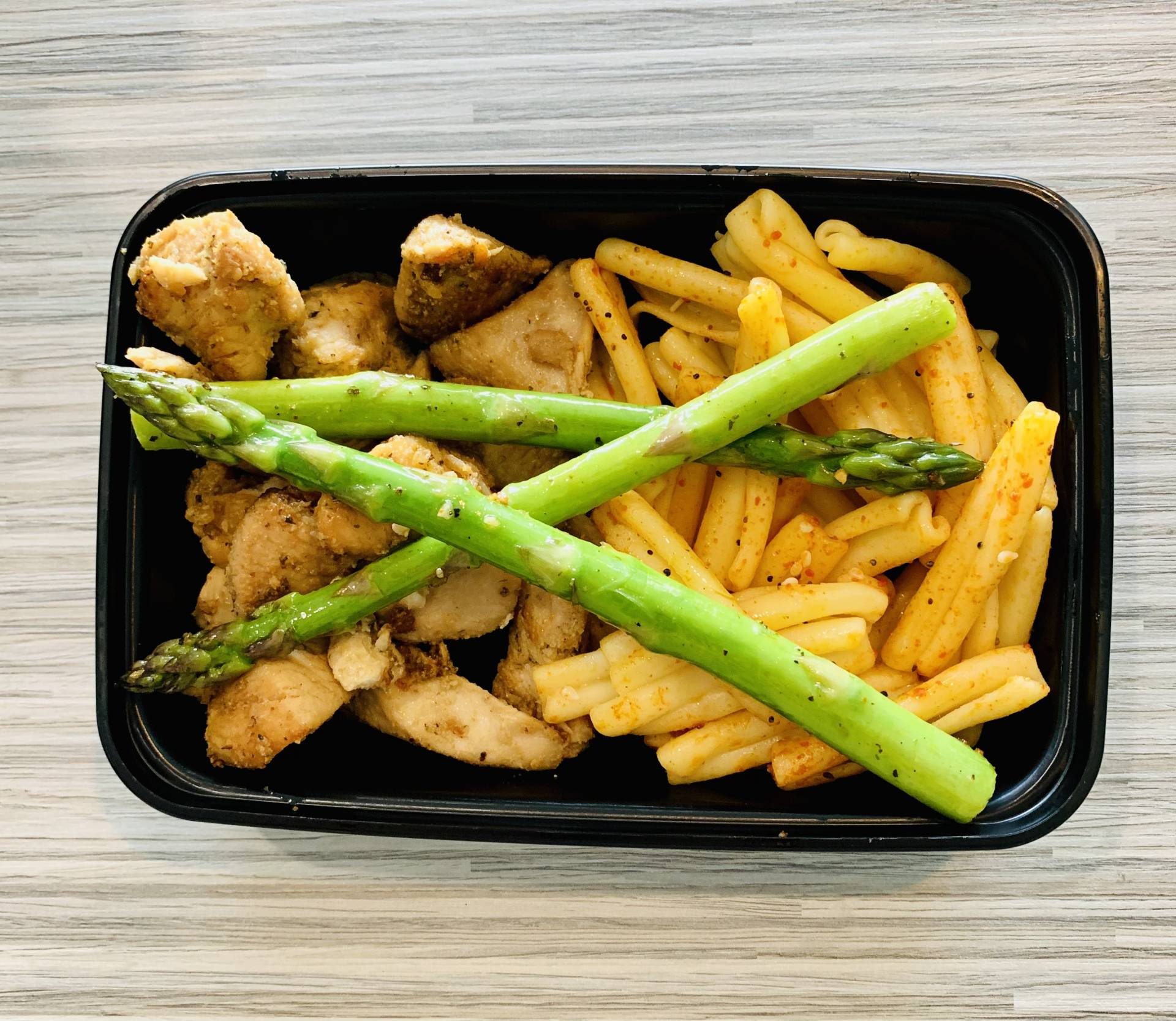 Grilled Chicken, Pasta and Asparagus