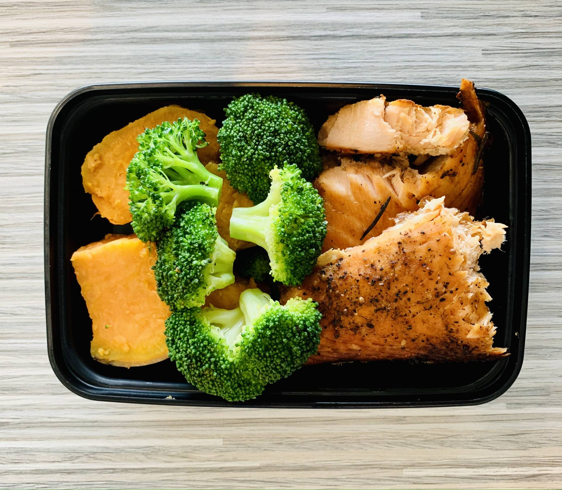 Atlantic Salmon, Sweet Potato and Broccoli