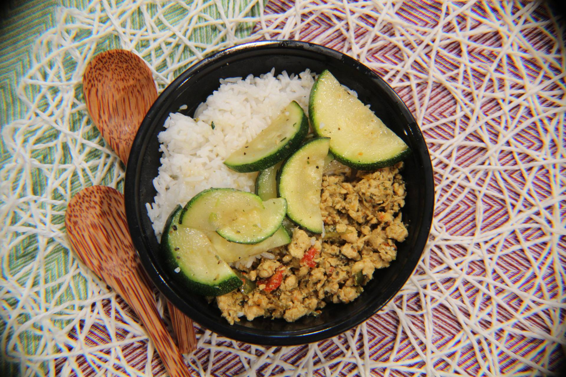 Ground Chicken, Jasmine Rice, Zucchini