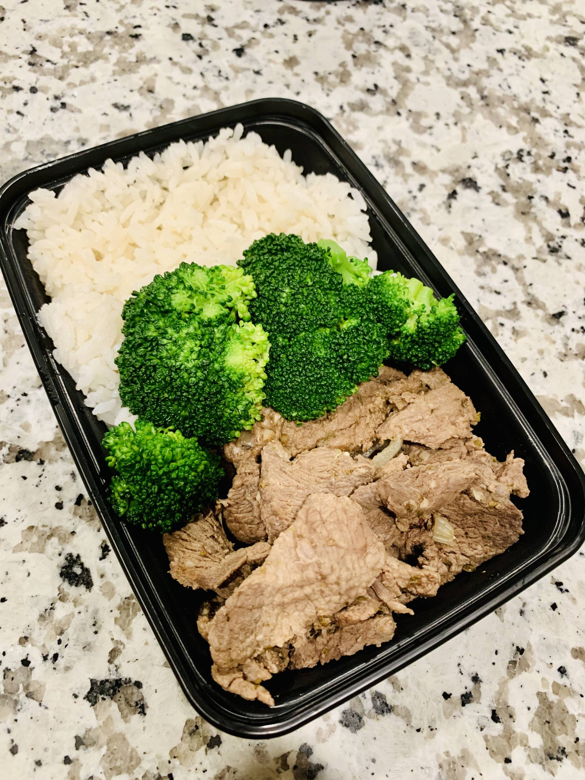 Steak, Jasmine Rice and Broccoli