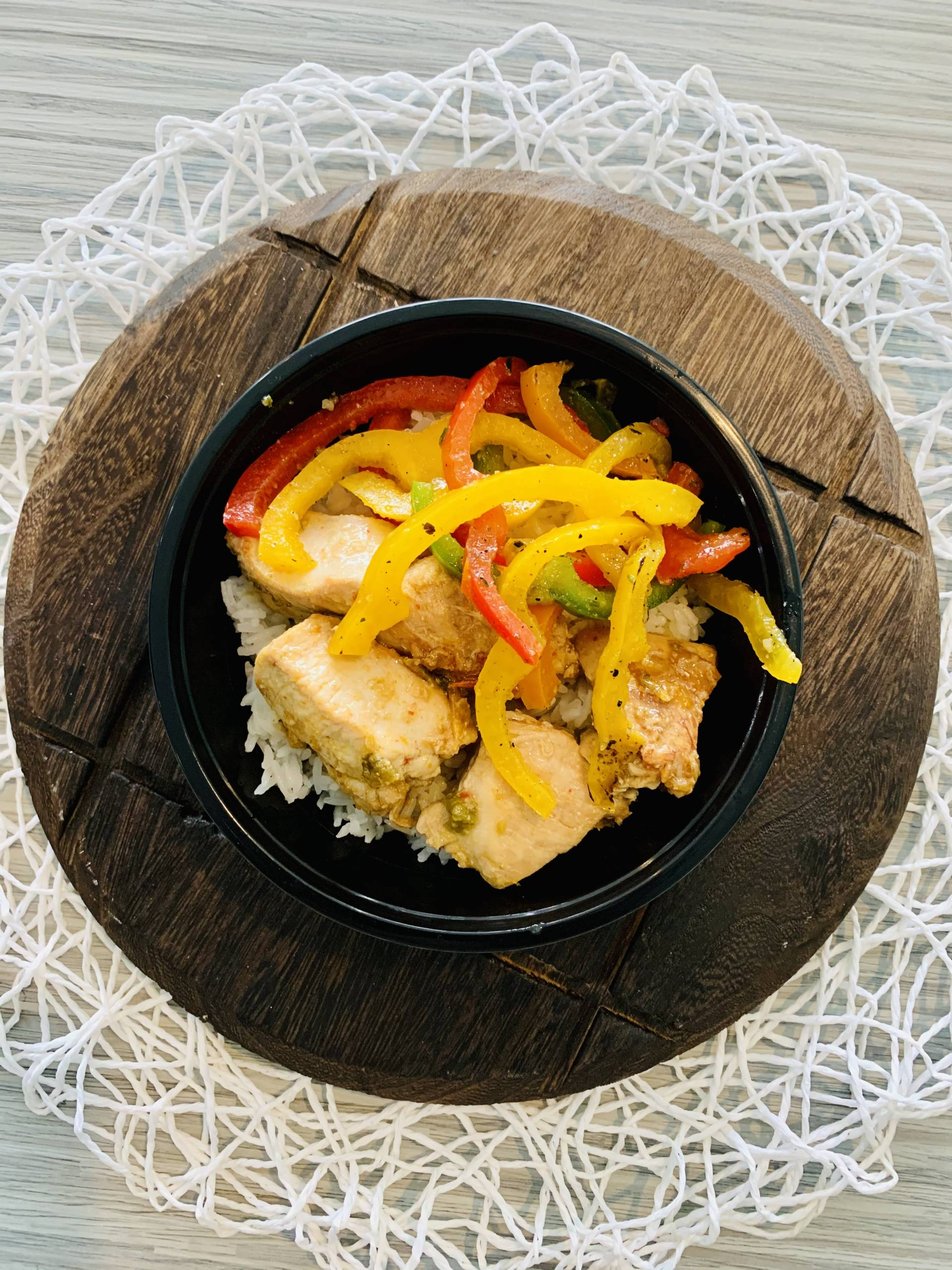 Grilled Chicken, Jasmine Rice and Peppers
