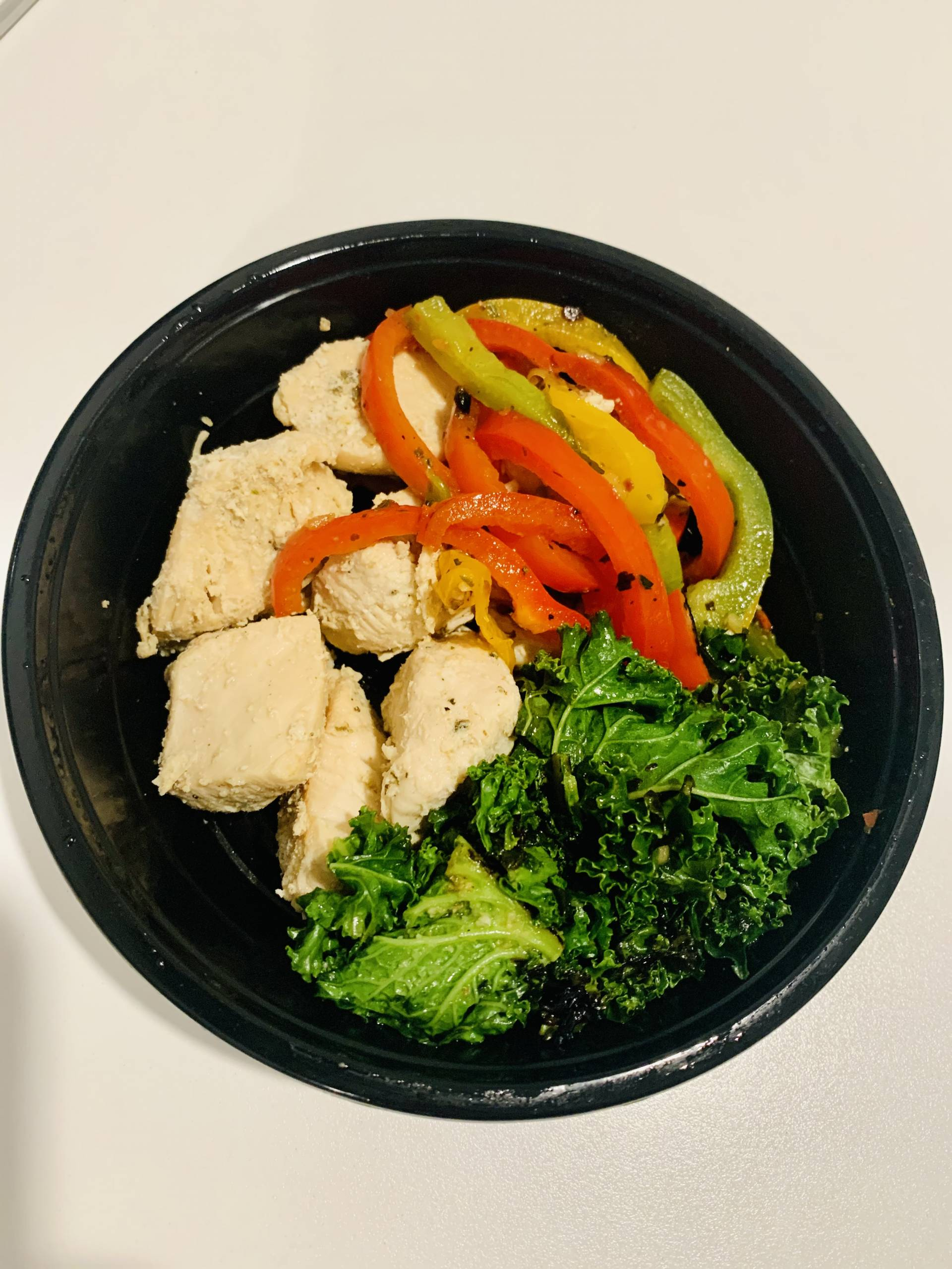 Grilled Chicken, Mixed Peppers and Kale