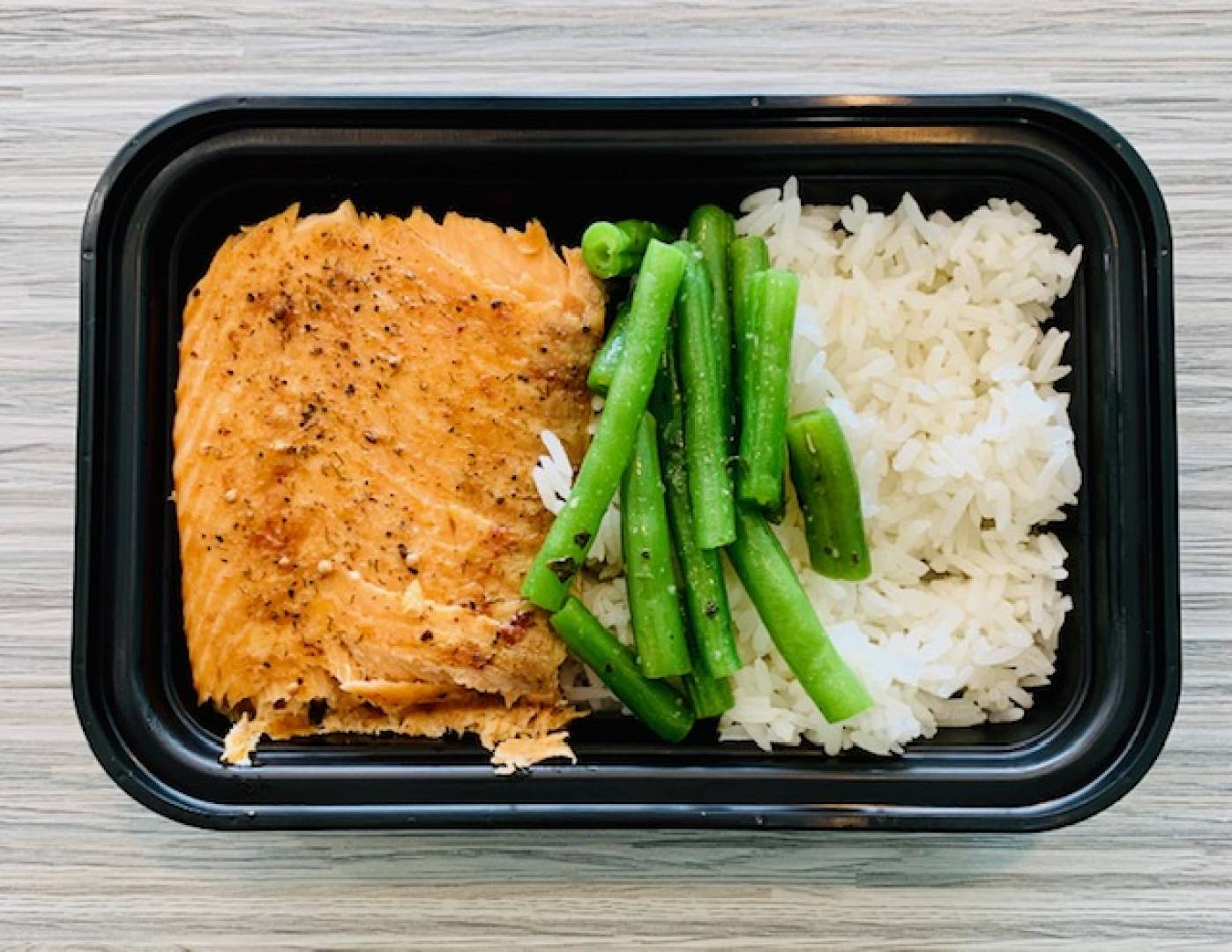 Atlantic Salmon, Jasmine Rice and Green Beans