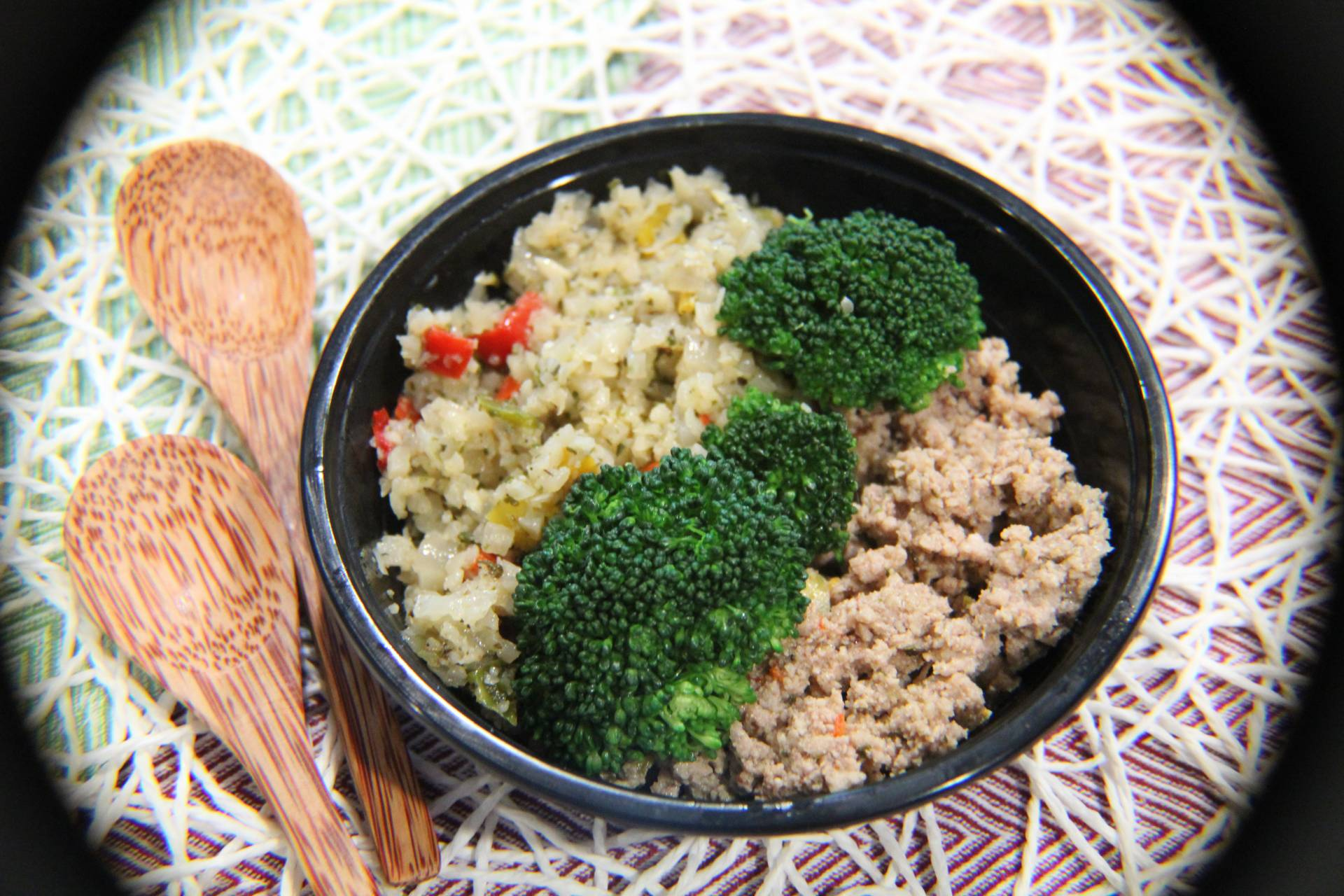 Ground Turkey, Cauliflower Rice and Broccoli