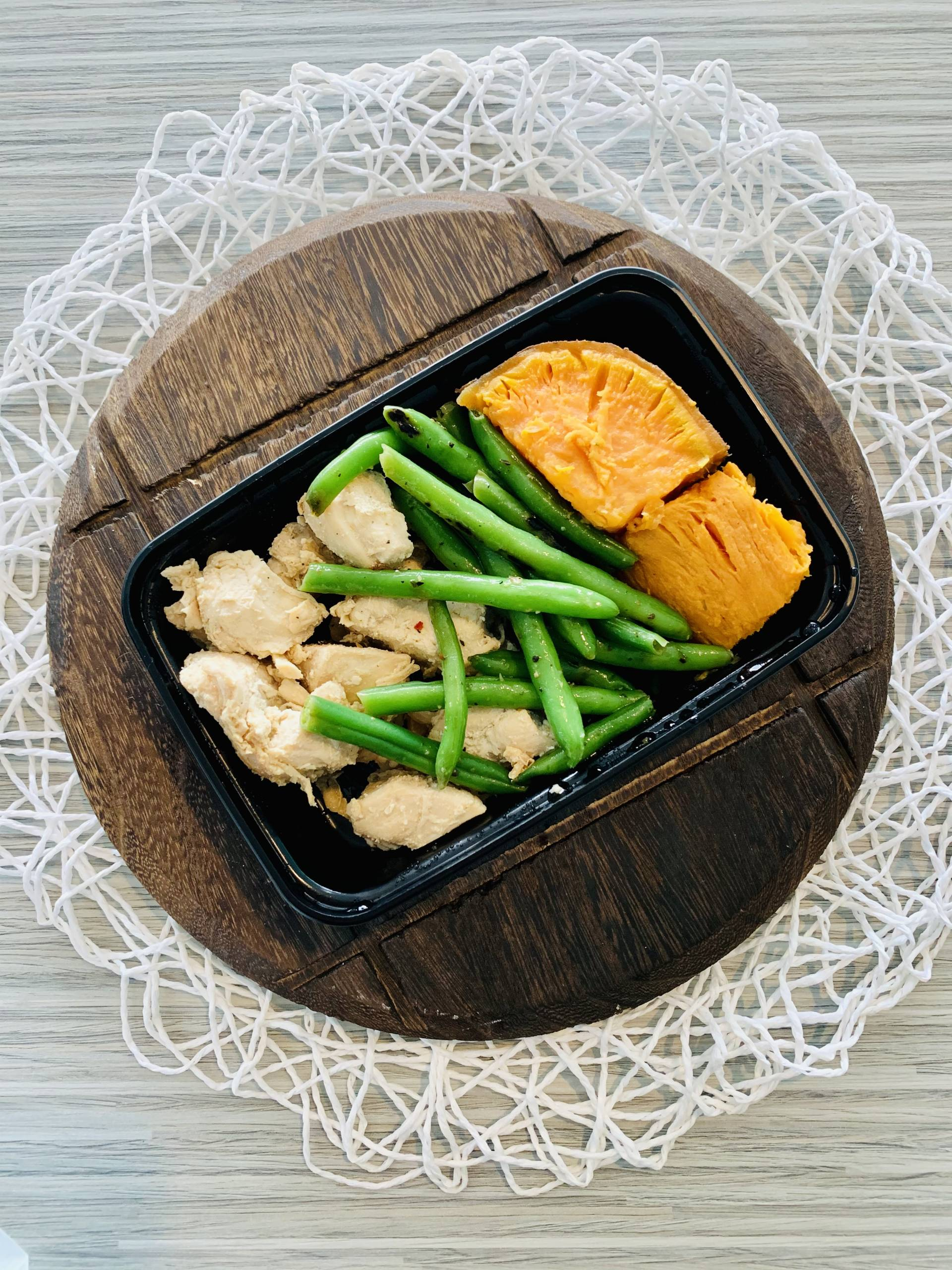 Grilled Chicken, Sweet Potato and Green Beans