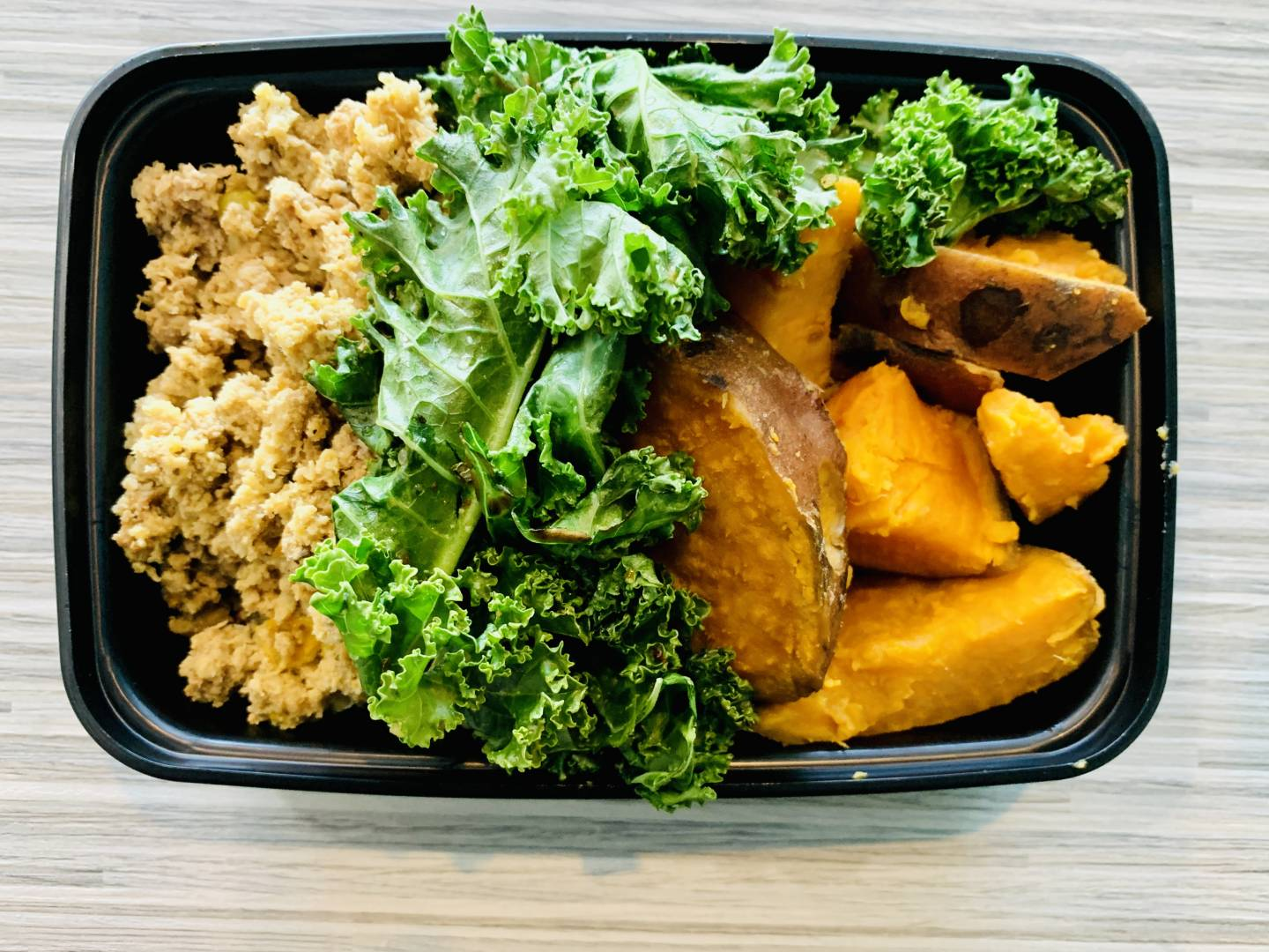Ground Turkey, Sweet Potato and Kale