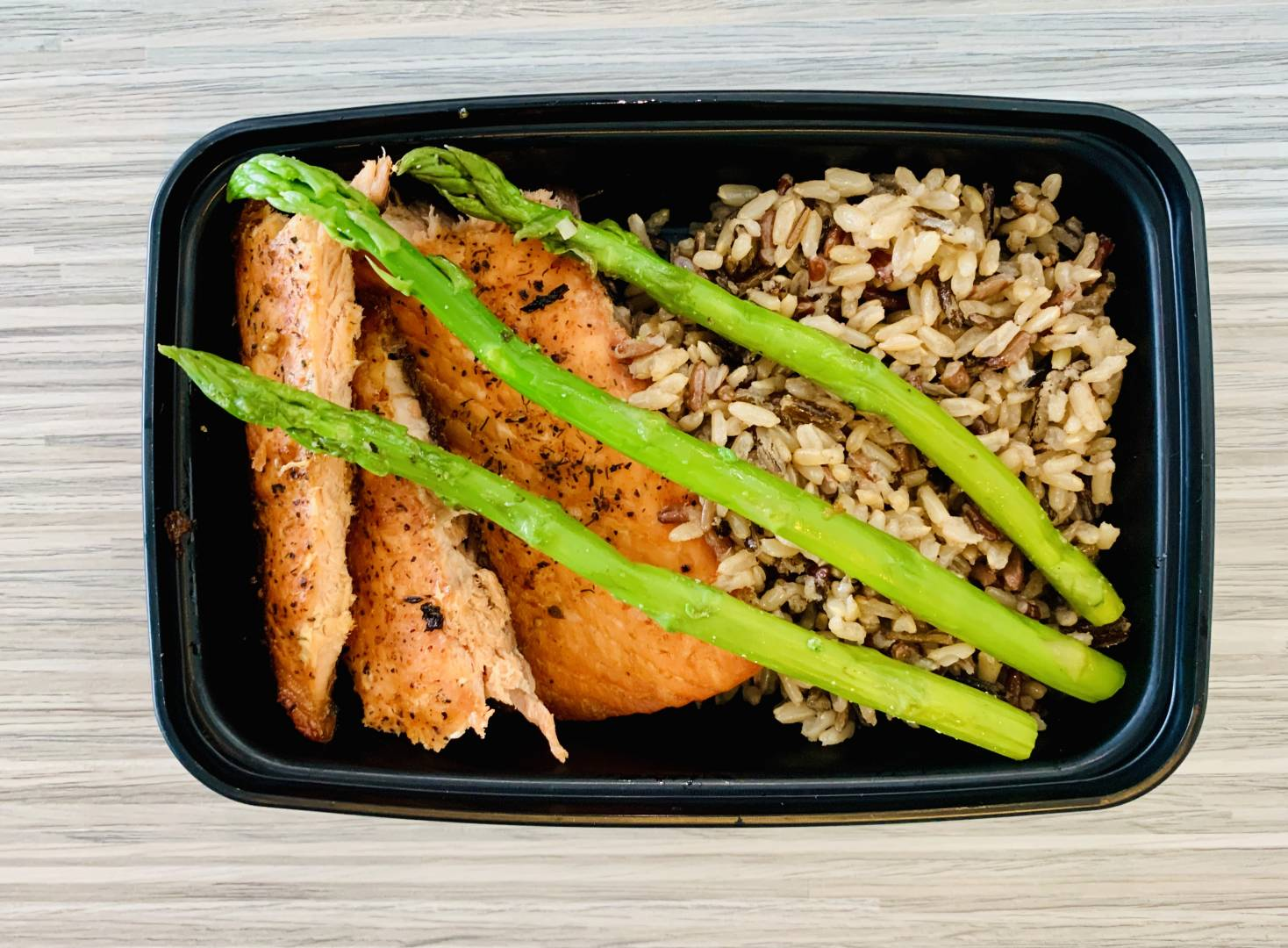 Atlantic Salmon, Wild Rice and Asparagus