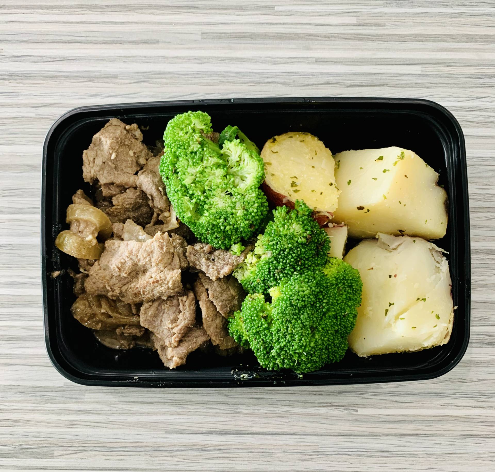 Steak, Red Potato and Broccoli