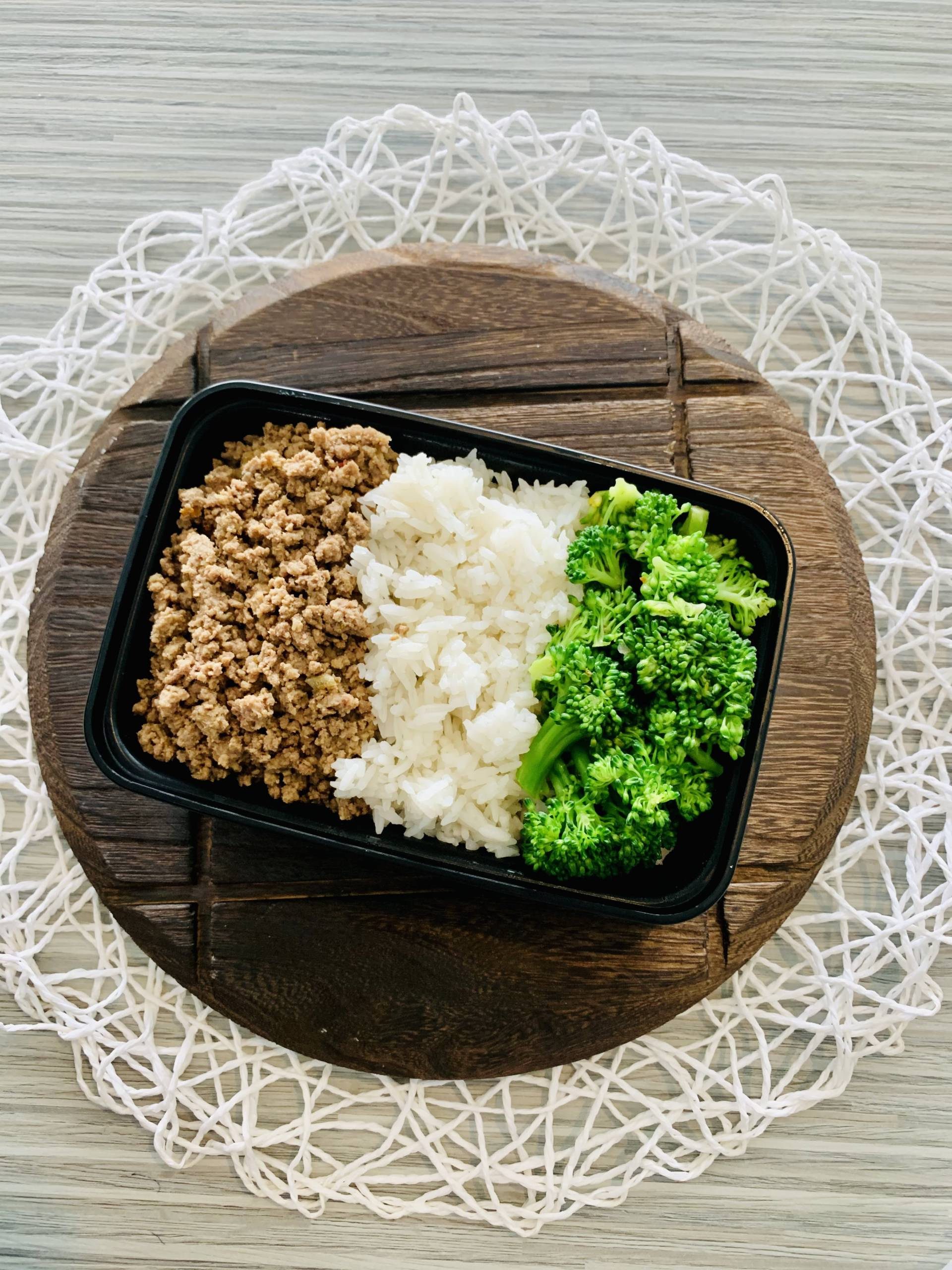 Ground Beef, Jasmine Rice and Broccoli